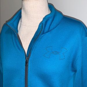 Under Armour textured full zip jacket semi fitted
